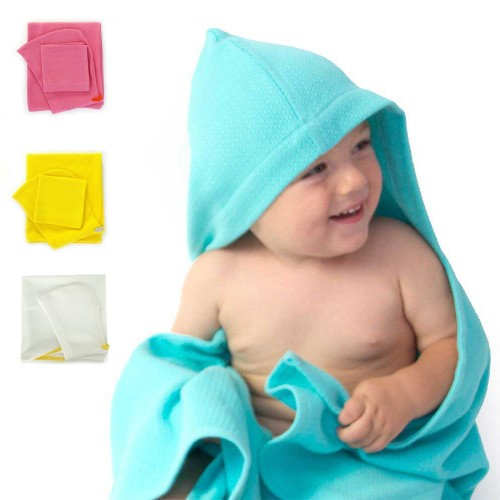 Organic Cotton Baby Hooded Towel Set | EKOBO Home