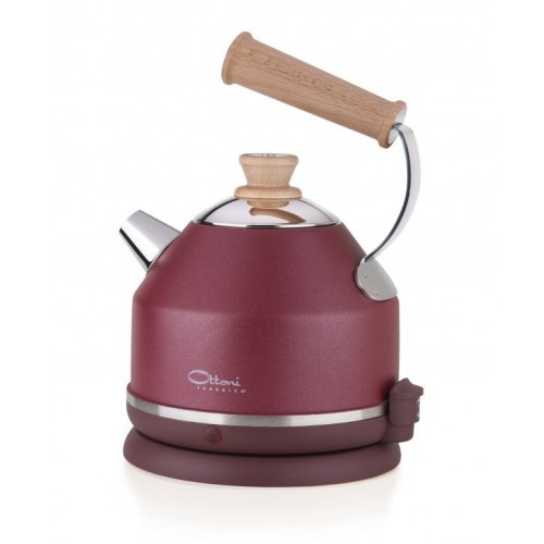 Electric kettle LIGNUM AMARENA red | Ottoni Fabbrica