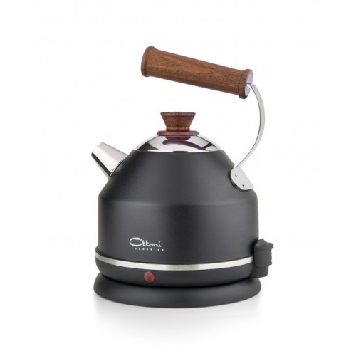 Electric kettle LIGNUM ELEGANCE black | Ottoni Fabbrica