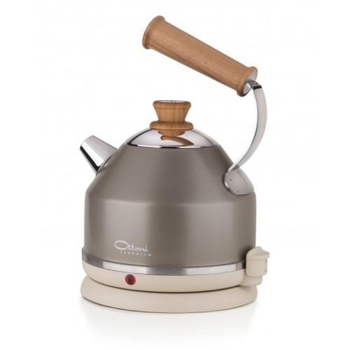 Electric water kettle LIGNUM PREZIOSO bronze | Ottoni Fabbrica