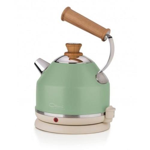 Electric kettle LIGNUM PRIMAVERA green | Ottoni Fabbrica