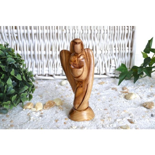 Olive Wood Angel URIEL - wood figure | Olivenholz erleben