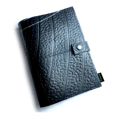 Recycled Rubber Notebook With Handmade Paper | Ecowings