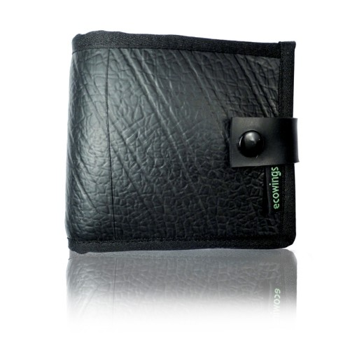 Black Buck 2 vegan leather mens' wallet, Ecowings