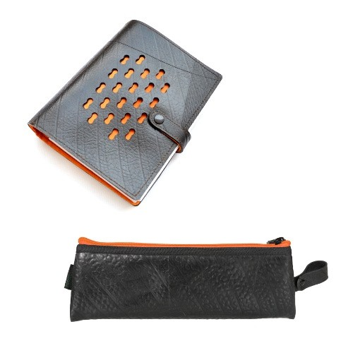 Ecowings Upcycled Gift Set Ring File Notebook LUXURY & Etui