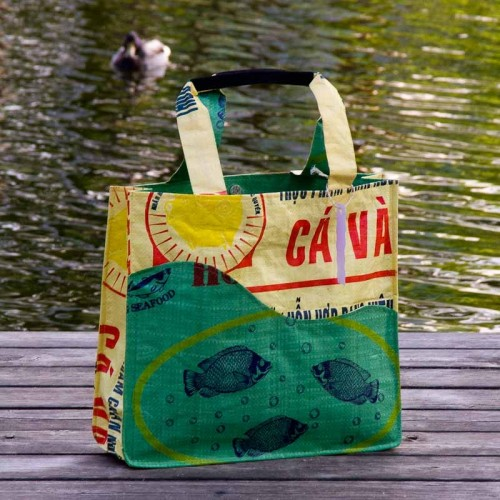 Dreamy Green Fish Recycyling Shopper & Beach Bag | Milchmeer