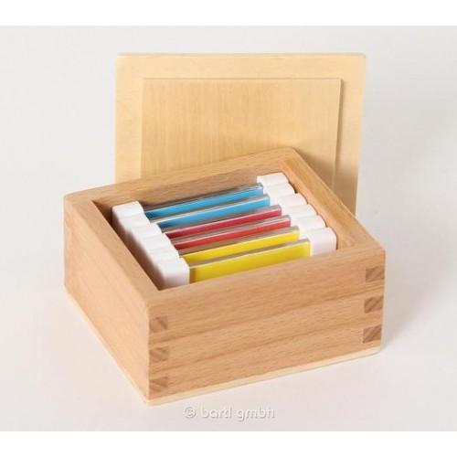 Kreatives Lernspielzeug: Farbtäfelchen in Holzbox | Bartl