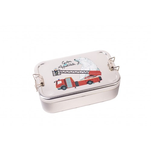 Kids Lunchbox Fire Brigade tinplate box | Tindobo