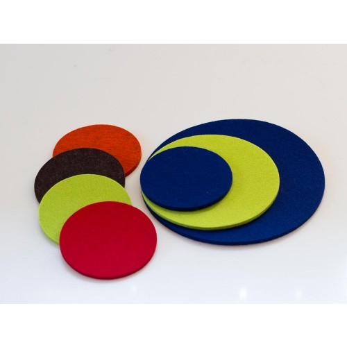 Felt Coaster virgin wool Ø20, Ø15, Ø10 cm - many colours | Nature's Design