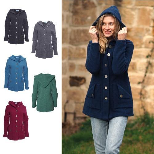 Women Eco Hooded Fleece Jacket - Merino Wool | Reiff