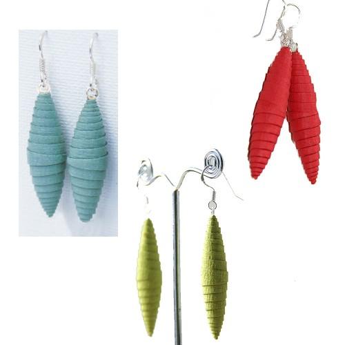 Funny Eco Paper Earrings   Sundara Paper Art