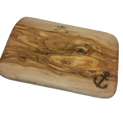 Cutting Board for Breakfast, Olive Wood, Engraving Anchor | D.O.M.
