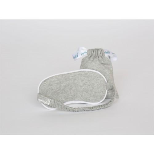 Schlafmaske Jersey White Grey