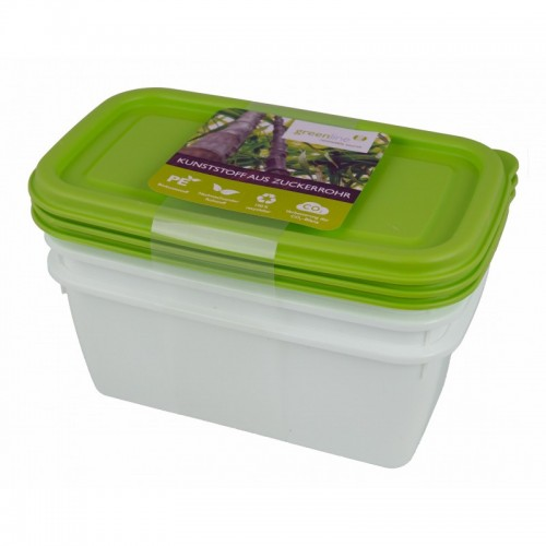 Greenline deep-freeze food box 0.75 l in 3-part set | Gies