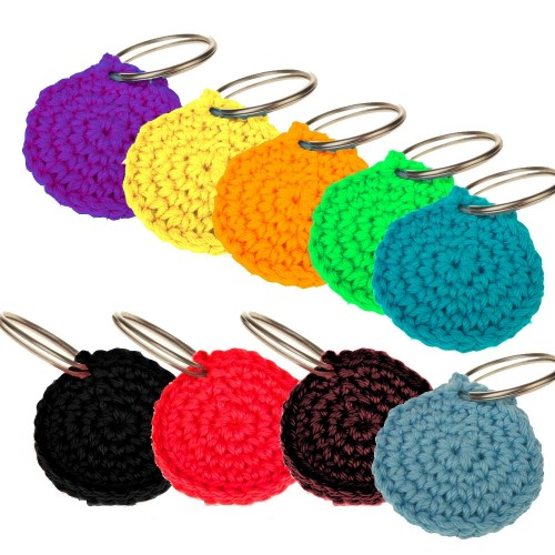 Crocheted Dog Tag Case QUIET TIME | Unique Dog