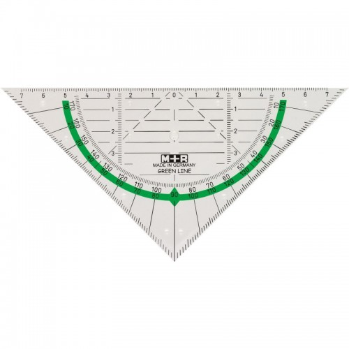 Triangle Ruler 16 cm made of Bioplastic | M+R