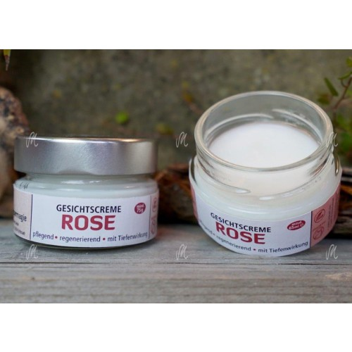 Rose Face Cream in Jar- natural cosmetics | Kraeutermagie