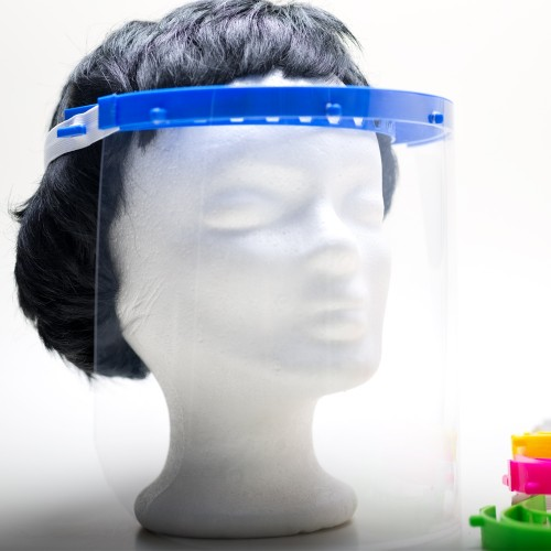 Reusable Full Face Shield from Bioplastic - durable