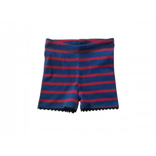 Red-blue striped unisex kids shorts & organic cotton pants | Ulalue