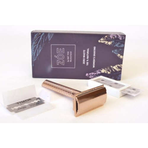Eco-friendly ZÓE Women's Safety Razor Gold + 10 Razor Blades » G&F