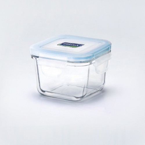 Airtight, mircowaveable Glasslock Baby Food Container, square