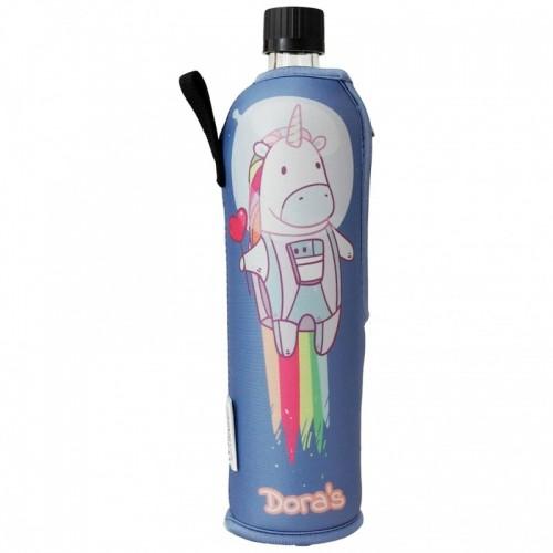 "Dora's Glass Bottle ""Unicorn"" in Protective Cover"