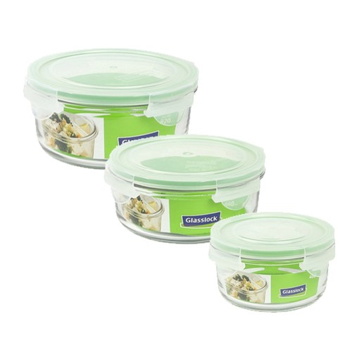 Glasslock Microwave round Glass Food Storage Containers