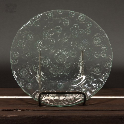 Eco Glass Plate floral pattern - Vidrios San Miguel