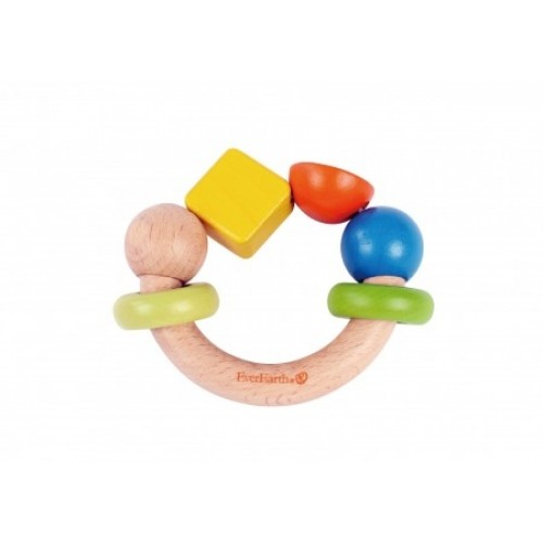 EverEarth® Colourful Baby Grasping Ring - FSC® Wood