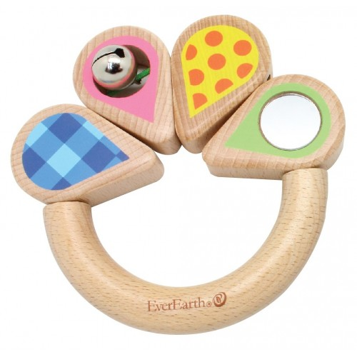 "Eco Baby Grasping Ring ""Leaf"" - FSC® Beech Wood 