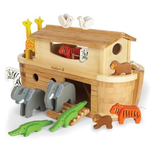 Holzspielzeug Große Arche Noah aus FSC® Holz | EverEarth