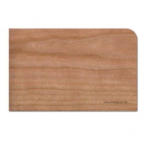 "Eco Greeting Card ""Blank"" made of cherry wood 