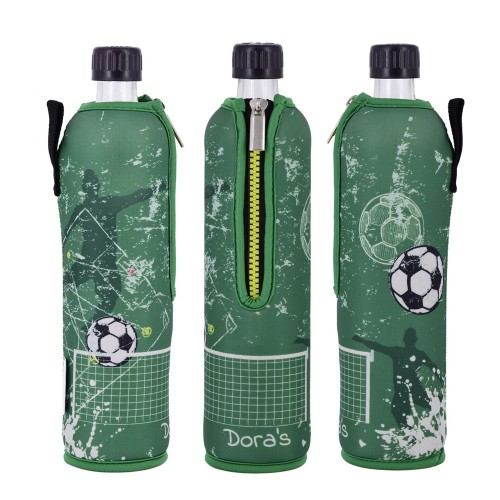 Football - reusable glass bottle in neoprene sleeve   Dora's