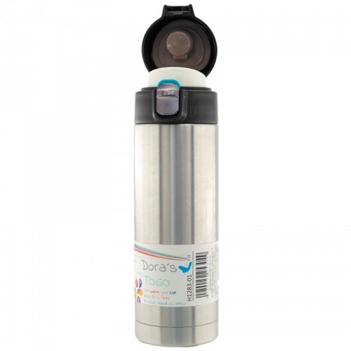 Dora's Stainless Steel Thermos Mug with one hand lid