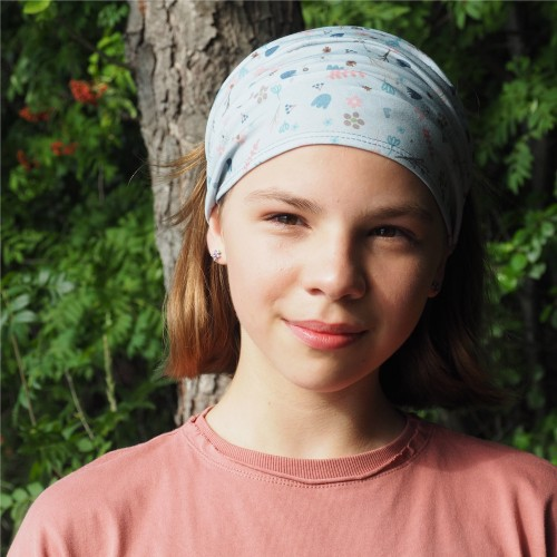 Headrband Eco-Jersey Flowers for girls & women | bingabonga