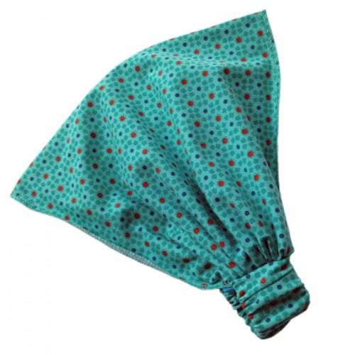 Turquoise elastic Headband Eco Jersey Starflowers   bingabonga
