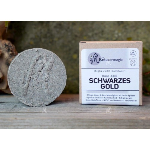 Solid Hair Conditioner Thaler Black Gold for dark hair | Kraeutermagie