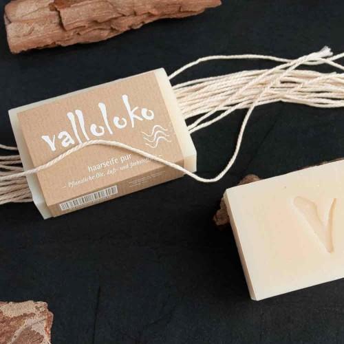 Valloloko hand-made & vegan shampoo bar PURE
