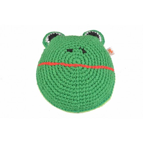 Eco Dog toy crocheted FROG Oeko Tex100 | Unique Dog