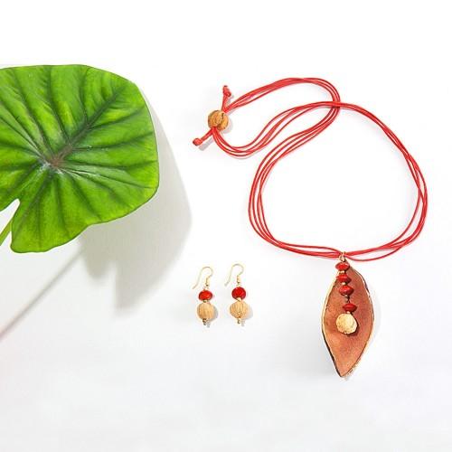 Fair Trade Jewellery Set SUNSET - Sundara Paper Art