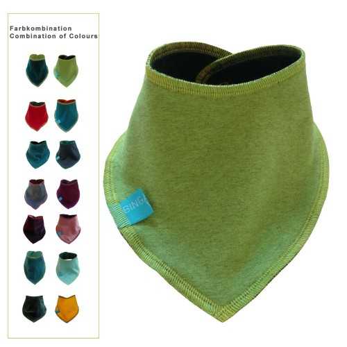 Triangular Scarf Plain, Eco Cotton Baby Scarf | bingabonga