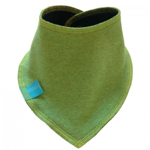 Triangular Scarf Plain, Eco Cotton, Lime mixed/Emerald