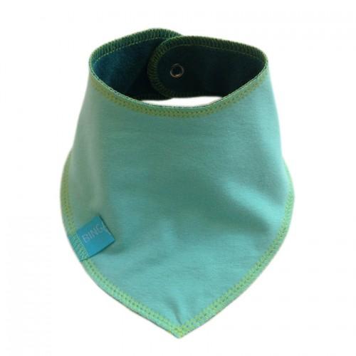 Triangular Scarf Plain, Eco Cotton, Mint Green/Petrol