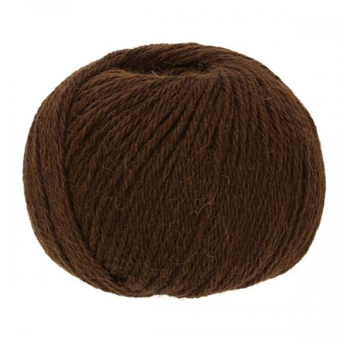 Baby Alpaca-Soft knit crochet yarn, 50g Chocolate | Apu Kuntur