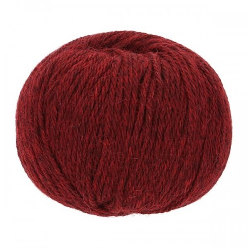 Baby Alpaca-Soft knit crochet yarn, 50g Ruby Heather | Apu Kuntur