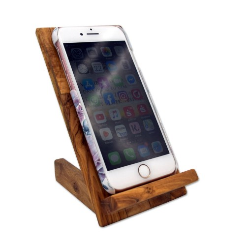 Cell Phone Holder made of Olive Wood Anit Slip | D.O.M.