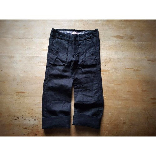 Hemp Canvas Trousers for girls & boys, anthracite | Ulalue