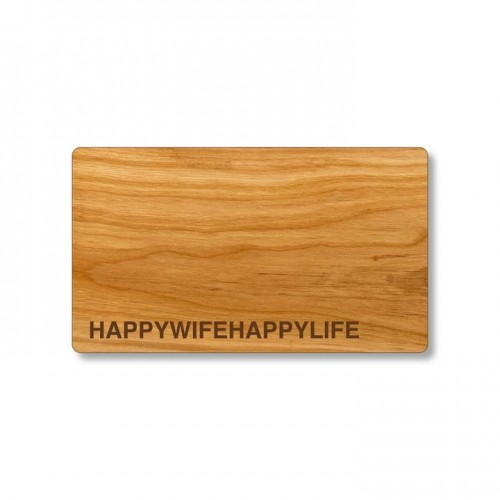 HAPPYWIFEHAPPYLIFE Cutting Board of cherry wood | Echtholz
