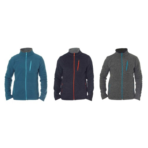 Men Fleece Jacket Ichgl from Organic Wool | Reiff