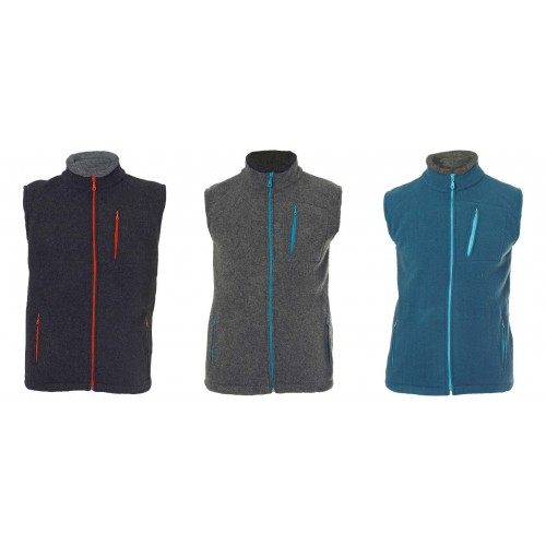 Men Fleece Vest Davos from Organic Wool | Reiff